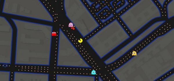Google Maps Pac-Man juego