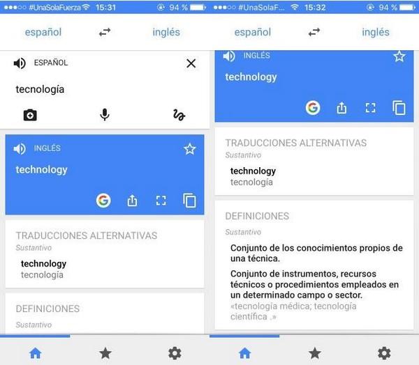 Google Traductor diccionario actualizacion