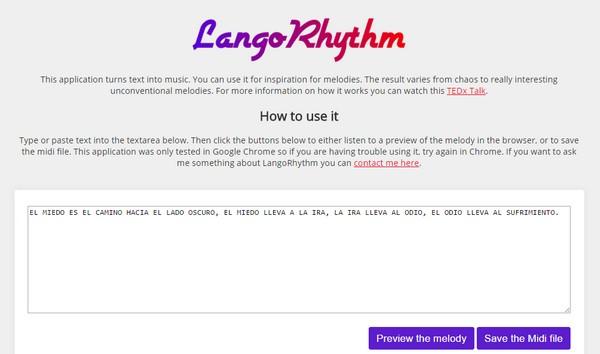 LangoRhythm aplicacion web musica